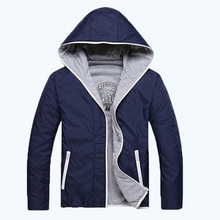 2017 freies shippinghoodies männer casual mode-stil dünne einfarbig zweiseitige jacke männer 2 farben M-3XL 45