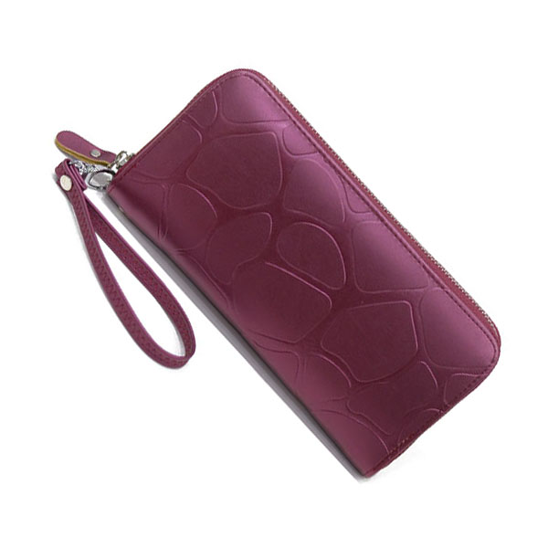 Hot Fashion Vogue Women Stone Grain zipper Long Wallet Purse With Hanging Strap Clutch Bag