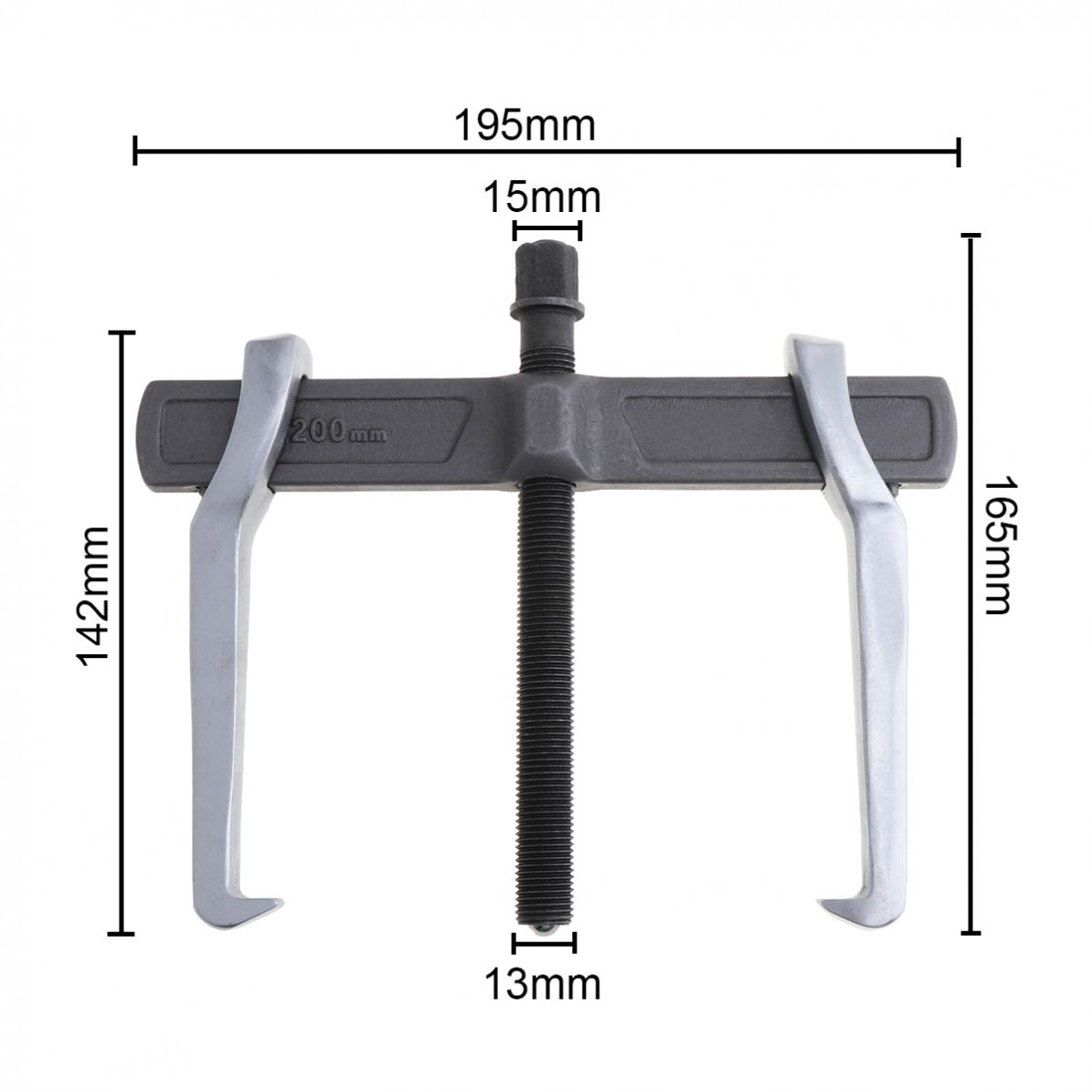 Tools : 8 Inch CR-V Single Hook Two Claws Puller Separate Lifting Device Strengthen Bearing Puller for Auto Car Repair Hand Tools