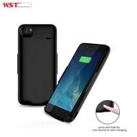 WST 5000 mah external battery case cho iPhone 6 6 S 7 với hai giao diện đầu ra di động sạc di động case với ch