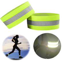 Brand High Visibility Reflective Vest Elastic Strap Wristbands Ankle Emergence Warning Night Running Cycling Sports Safety