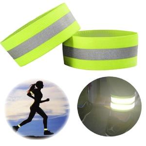 Image 1 - Marka wysoka widoczność kamizelka odblaskowa elastyczny pasek opaski kostki pojawienie się ostrzeżenie noc bieganie kolarstwo sportowe kamizelki bezpieczeństwa