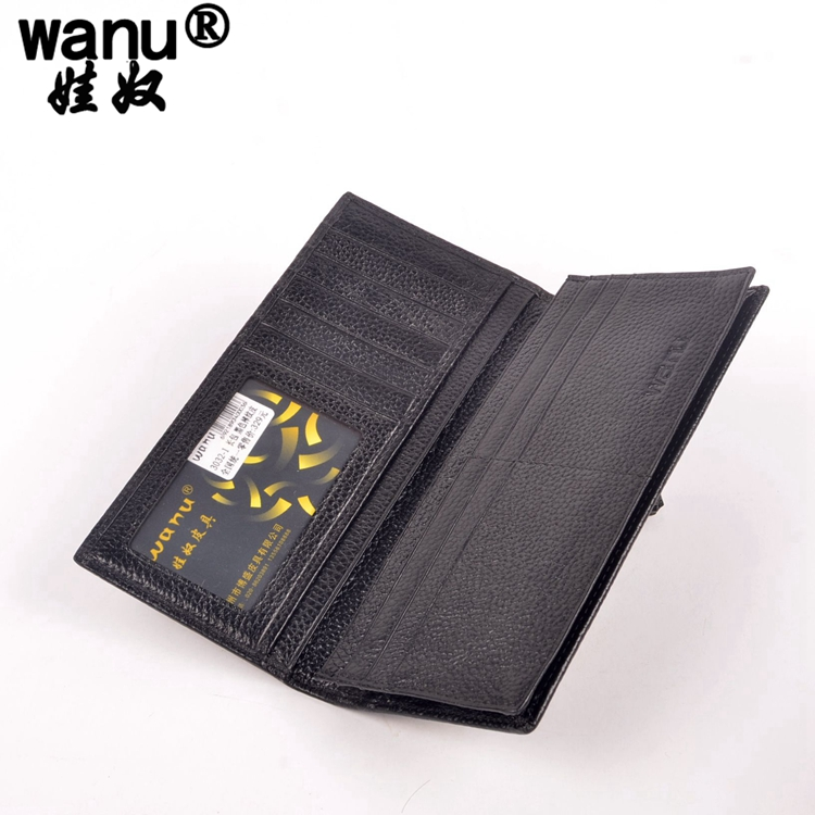 9WANU Fashion 100% Genuine Leather Long Design Wallet Men Multi-card Bit Wallets High-quality Clutch carteira Coin Purse Long
