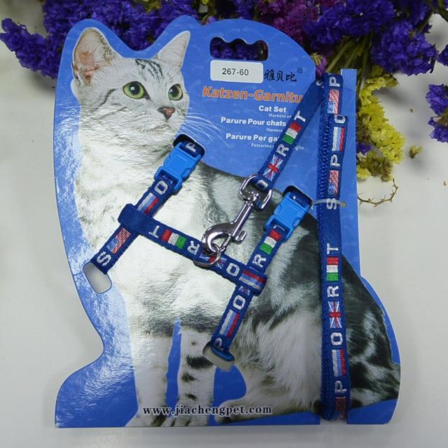 36 pcs/lot nylon produits pour animaux de compagnie chat harnais et