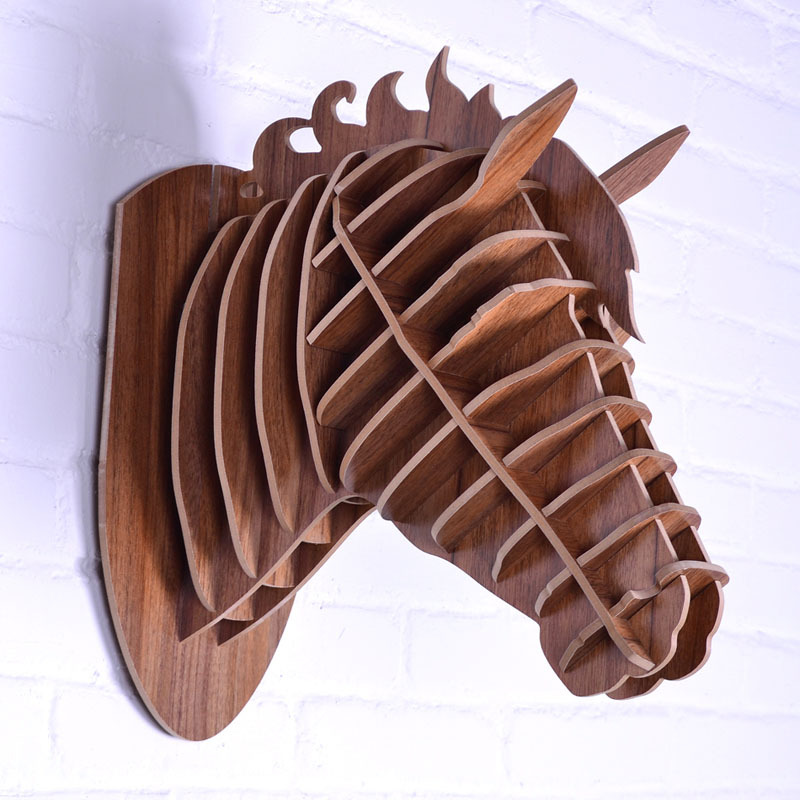Aliexpress.com : Buy NODIC,carved wooden horse head art ...