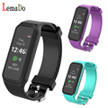 Lemado L38I Bluetooth Smart Band Dynamic Heart Rate Monitor Full color TFT-LCD Screen Smartband for IOS Android Smartphone