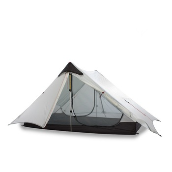 2019 LanShan 1/2 FLAME'S CREED 1/2 Person Oudoor Ultralight Camping Tent 3 Season Professional 15D Silnylon Rodless Tent 3