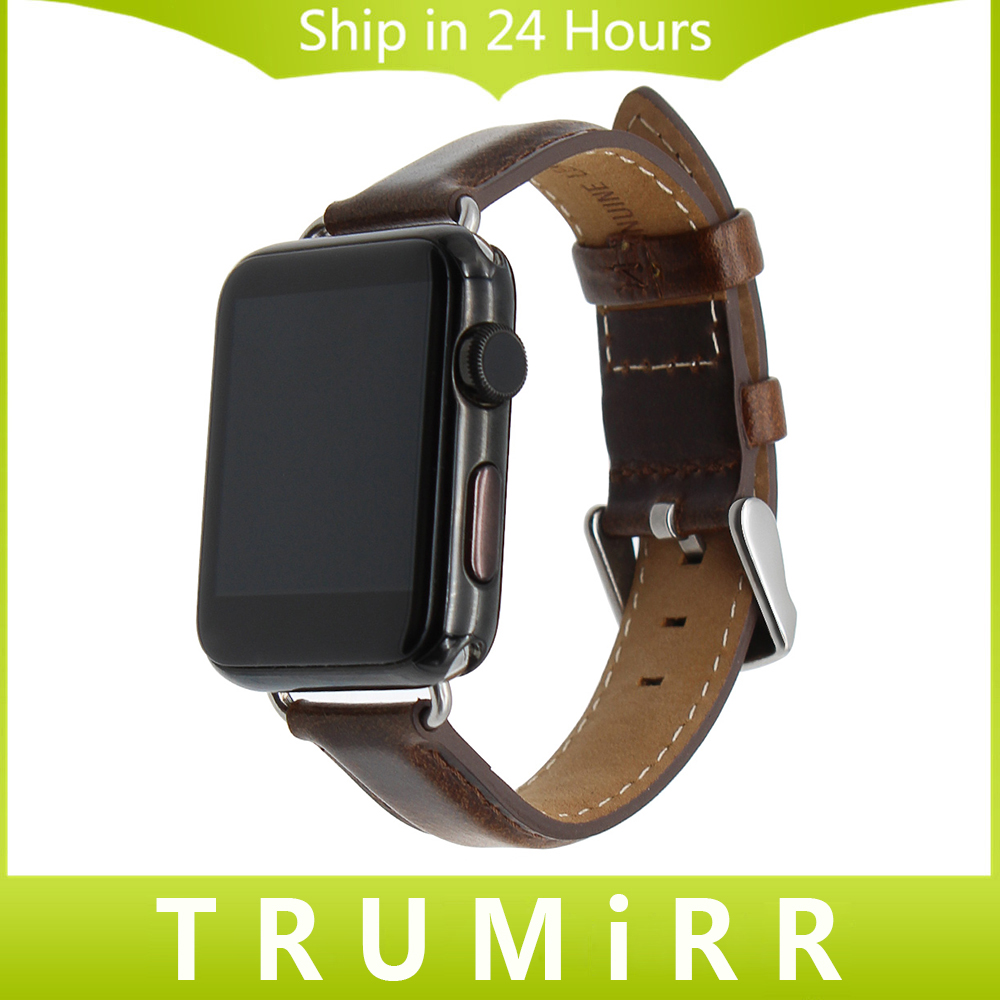 Italian Genuine Leather Watchband for 38mm 42mm iWatch Apple Watch Series 1 2 Wrist Strap Replacement Band Bracelet Black Brown istrap black brown red france genuine calf leather single tour bracelet watch strap for iwatch apple watch band 38mm 42mm