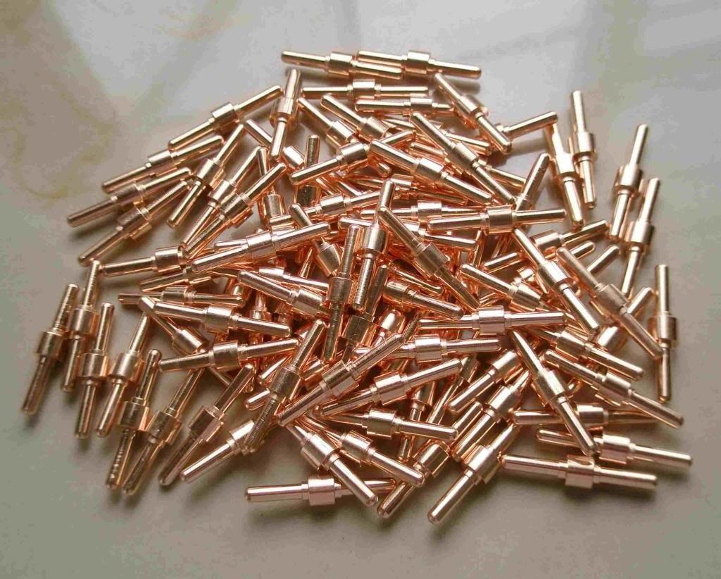 100pcs Extended Long Electrodes For 40A PT 31 Air Plasma Cutter 40D CUT40 50D CUT50