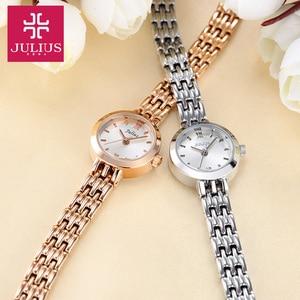 Image 4 - Julius Box reloj Mini dorado de 20mm para mujer, reloj de cuarzo japonés, pulsera pequeña, cadena, regalo de cumpleaños