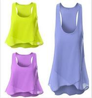 NEW 2016 Women Chiffon Sleeveless Shirt Vest Vest Tank Tops Blouse Waistcoat Plus Size
