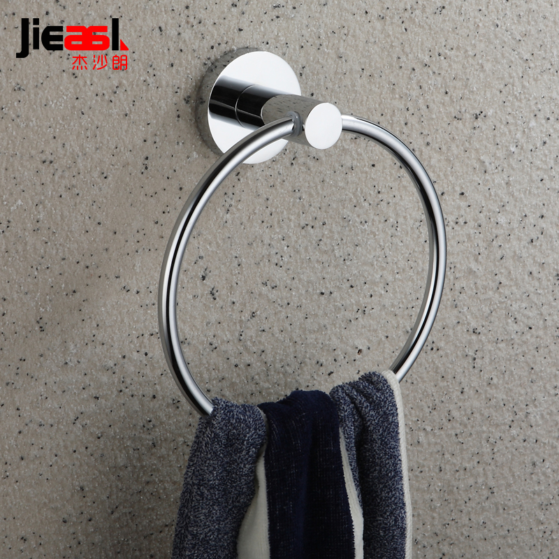 Bathroom Hardware Space Aluminum Towel Ring Round Ou Shi Wei Yu Hang Bathroom Towel Rack Jie Sha Lang 2260