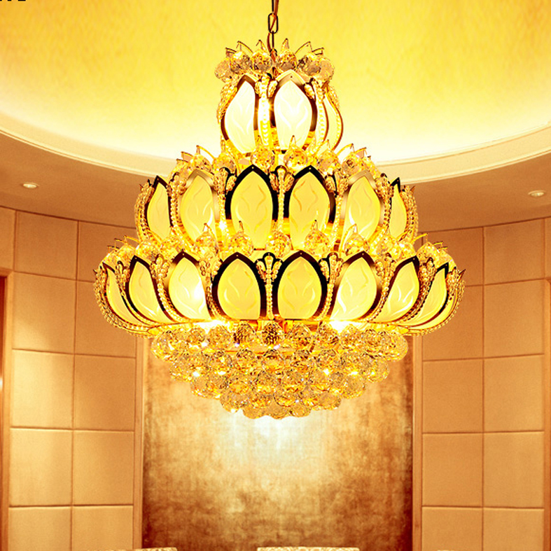 Modern Crystal Chandeliers Lights Fixture Led Light American K9