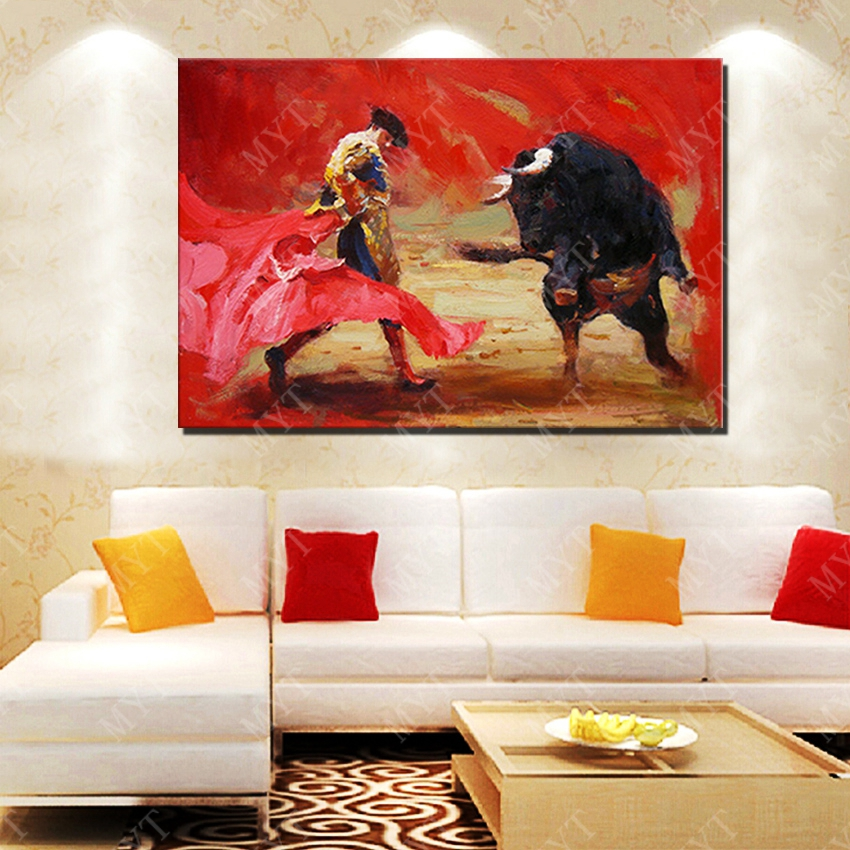 Abstract Spanish Bullfighter Oil Painting Living Room Wall Pictures