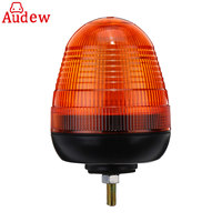 1Pcs Amber Warning Strobe Light LED Rotating Flashing Beacon 1 Bolt for Truck Tractor Car 12V/24V