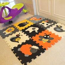 Mei Qi Прохладный 9 шт. животный узор пены головоломки дети ковры разделение совместное EVA детские игры коврики Крытый мягкие