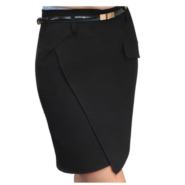 1689c135cffd4 Nuevo verano moda Oficina Faldas mujeres Primavera Verano ol formal Oficina  damas mini Falda corta más