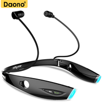 DAONO H1 Sport Bluetooth Headset Foldable Sweatproof Auriculares Wireless Headphone For IPhone 7 Xiaomi Bluetooth Earphone