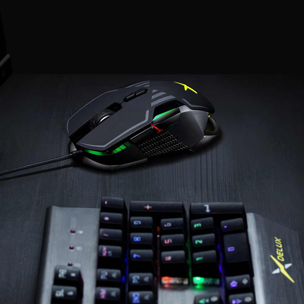 デラックス M628 PMW3389 センサー 16000 DPI ゲーミングマウス 9 ボタン 50 グラム ACC RGB 有線光学両手と重量セットゲーマー