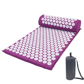 Acupressure Massager Mat Relaxation Relief Stress Tension Body Yoga Mat Spike Relieve Stress Pain Cushion Set 4