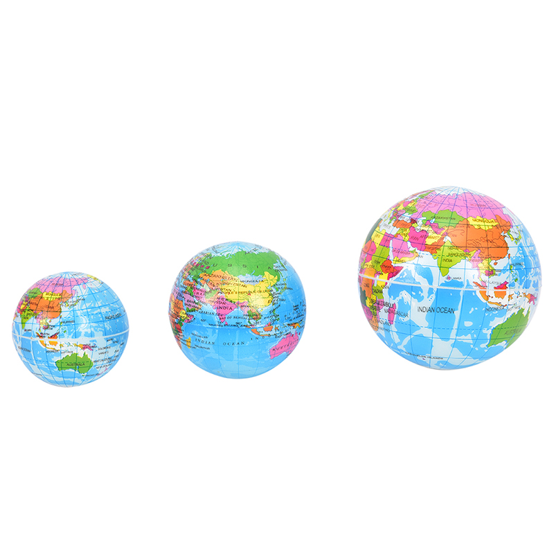 US $0.57 16% OFF|1Pc Geography Map Teaching Hand Squeeze Ball Fashion Soft  Earth World Map Globe Foam Stress Relief Bouncy Ball high quality-in Party  ...