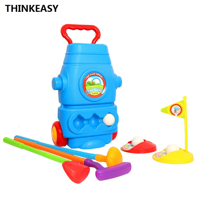 ThinkEasy Children Outdoor / indoor Sport Golf Ball Game Toy Set Base and Ball Saver ABS Kid Sport Toys