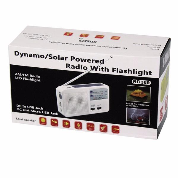 Hot Sale FMAM Radio Solar Flashlight (1)
