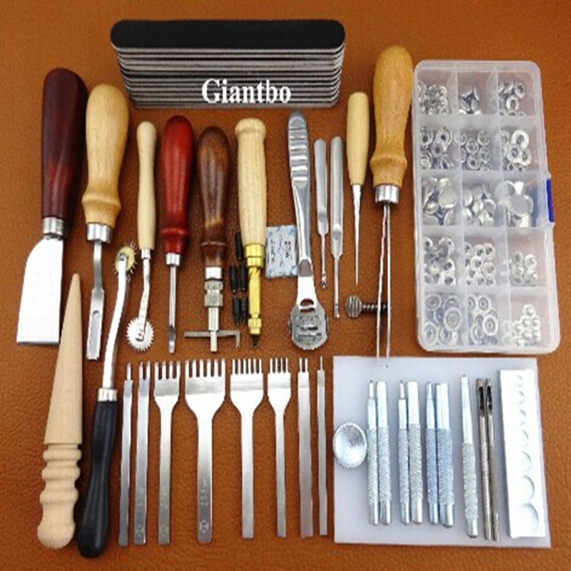 Nice leather craft tool kit leathercraft hand sewing tool for Gardening tools for 3 year old
