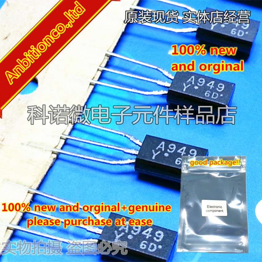 10pcs 100% New And Orginal 2SA949 A949 2SA949-Y TO-92   In Stock