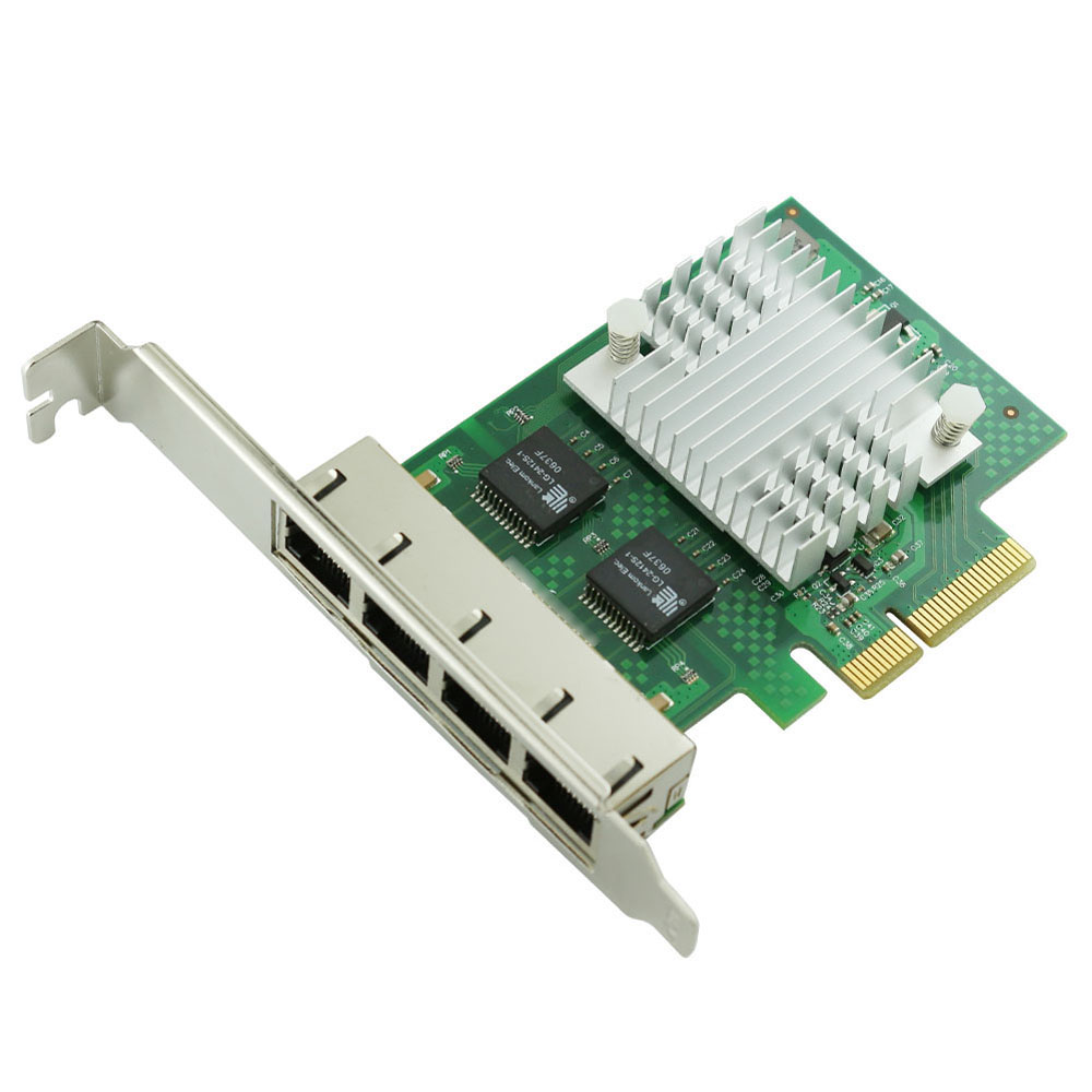 WYI350T4 RJ45 PCI-E Gigabit Ethernet Network Adapter Card NIC intelI350-T4 I340-T4