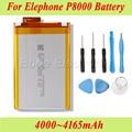 P8000 Elephone Original 4000 ~ 4165 mAh Batería Batería Batería Akku Acumulador PIL + Desmontar Herramientas