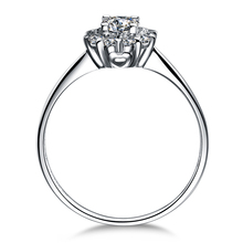 "ZOCAI Drown IN Love "" 18K White Gold (Au750) 0.8 Carat Diameter Effect "" 0.20 CT  Certified Diamond Engagement Women Ring W02967"
