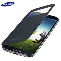 100 Original S View Cover For Samsung S4 Auto Sleep Wake Up Function Battery Housing Cover