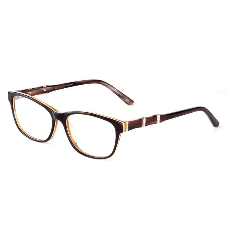 Optical Acetate Metal Glasses Frame Men Myopia Glasses Reading Glasses Customized Progressive Multifocal Prescription Lenses
