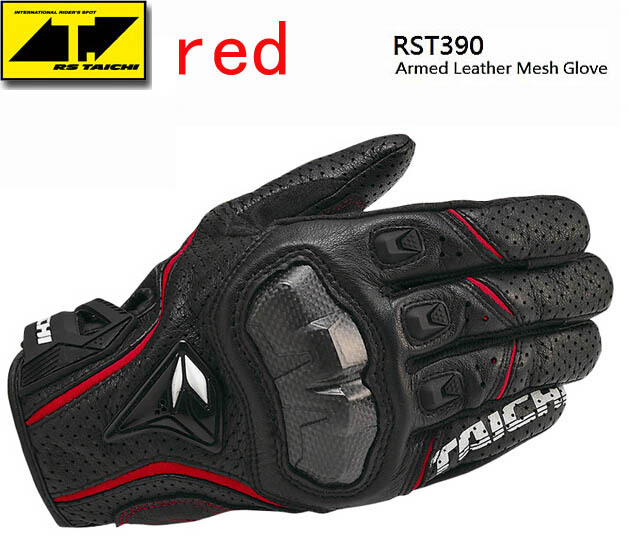 Hot Sales New Cool Rs-taichi 390 motorcycle gloves / racing gloves / carbon fiber gloves Genuine leather gloves