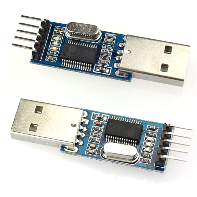 10 x USB To RS232 TTL PL2303HX Converter Module Adapter Connector Device STC Sep03 usb to ttl updating board module green silver black