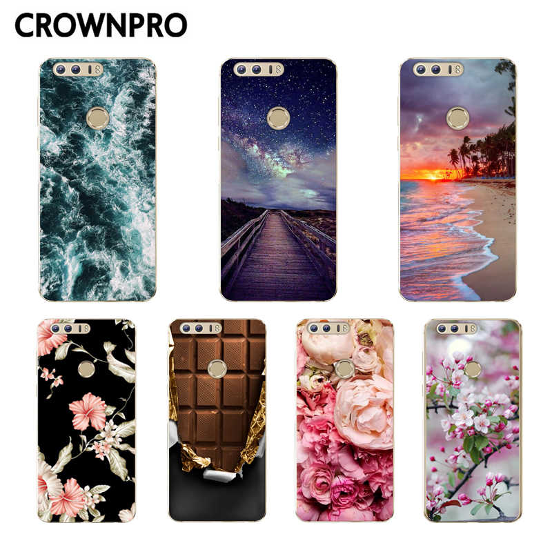 "CROWNPRO Huawei Honor 8 Case Soft Silicone Huawei Honor 8 TPU Case Back Cover 5.2"" Huawei Honor 8 Phone Accessories"