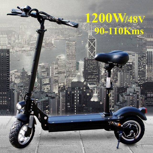 FLJ 1200 Вт Электрический скутер для взрослых с сиденьем 48 В/500 Вт дропшиппинг самокат складной электрический велосипед