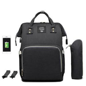 Image 4 - LEQUEEN USB сумка для подгузников, для ухода за ребенком, Большой Вместительный рюкзак для мамы, для мам, влажная сумка, водонепроницаемая сумка для беременных