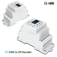 DS; DC5V 12В 24В DMX512 сигнал в SPI контроллер преобразователя DMX декодера поддержка 6803/8806/2811/2812/2801 IC