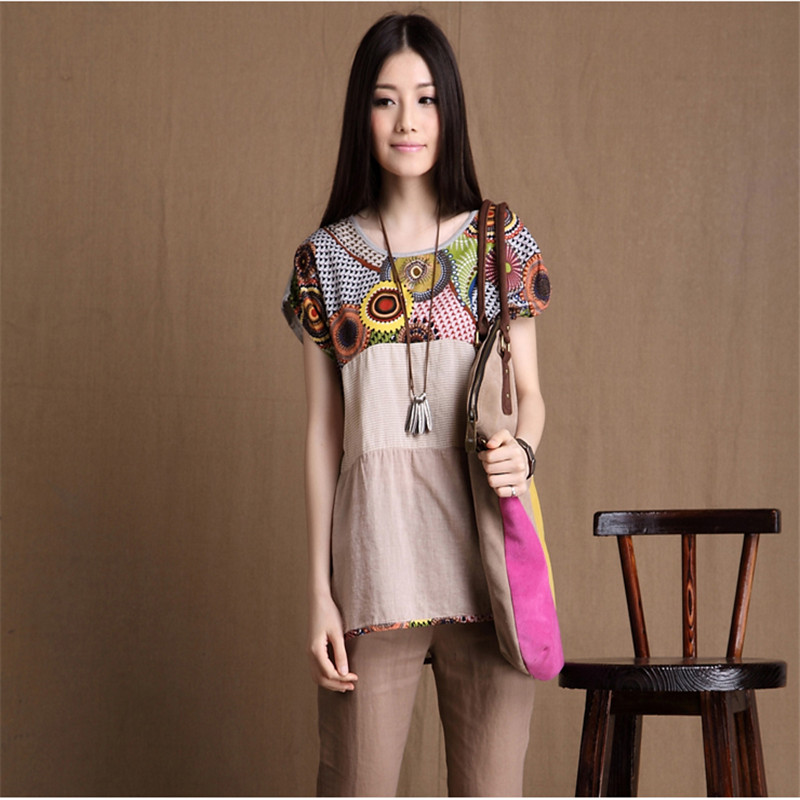 Belva Maternity Shirts Women Irregular Hem Bohemia Loose Cotton Striped T-shirt Pregnancy Tops Clothing for Pregnant Women 749