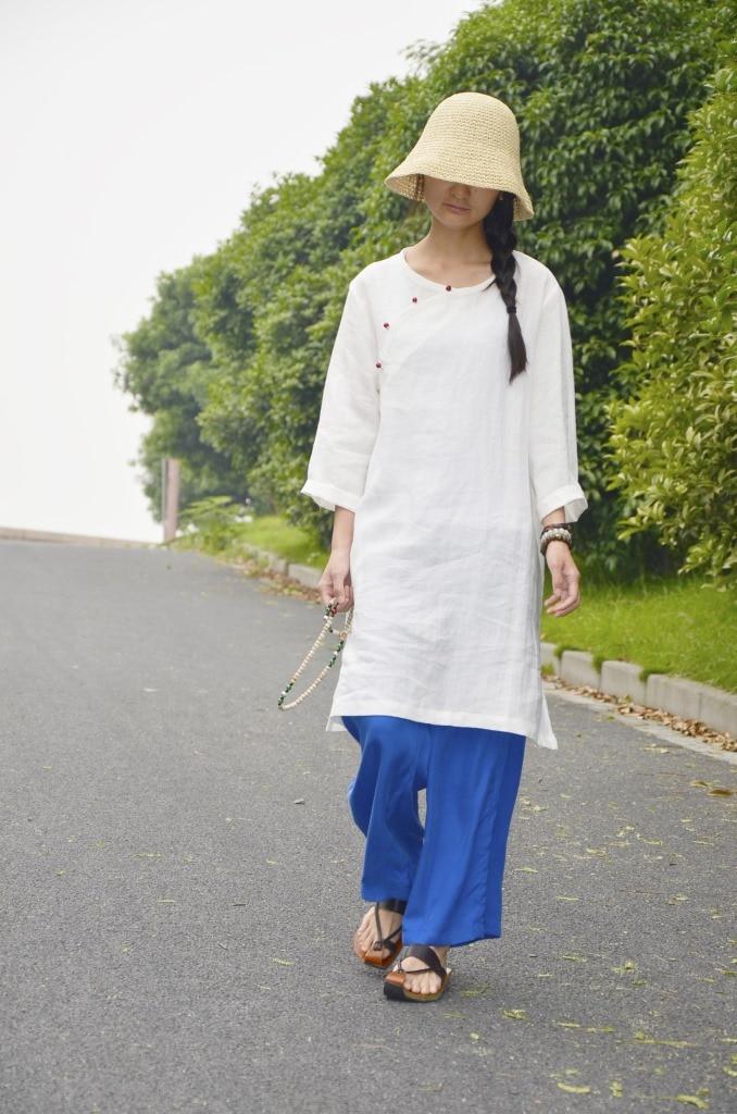 В китайском стиле ретро имитация нефрита пряжкой хит цвет с длинным рукавом sectioncardigan рубашки 18059