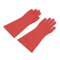 1 Pair Professional 12kv High Voltage Electrical Insulating Gloves Rubber Electrician Safety Glove 40cm Accessory