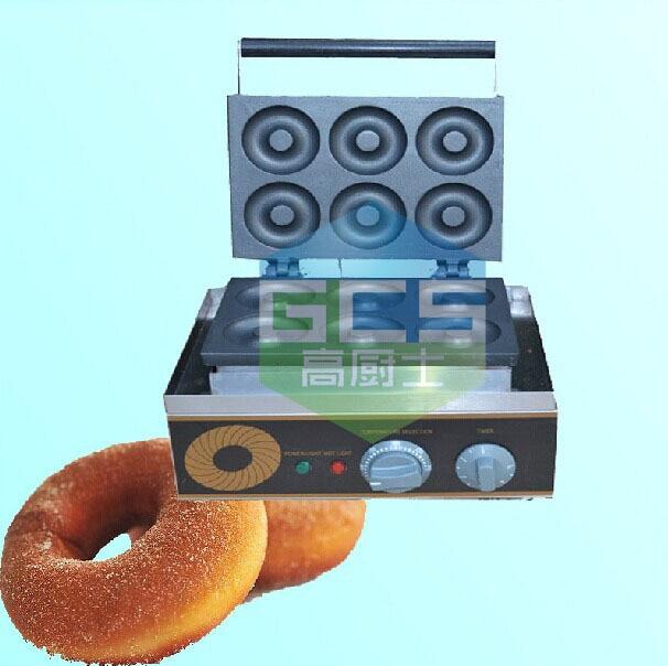 Бесплатная Доставка 2 шт./лот Электрический 6 отверстий пончики машина Пончики чайник снэк машина Cookie Maker