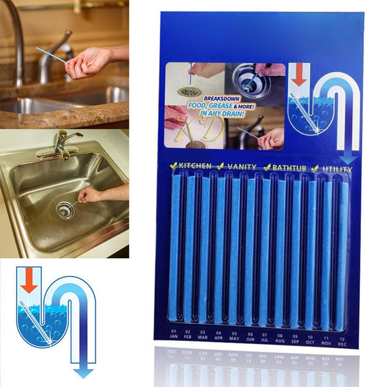 Diskret 12 Teile/los Sticks Rohr Badewanne Dekontamination Sticks Für Küche Wc Wasser Tank Kanalisation Reinigen Badewanne Abfluss Reinigung Werkzeug Haushaltschemikalien Haushaltsreinigung