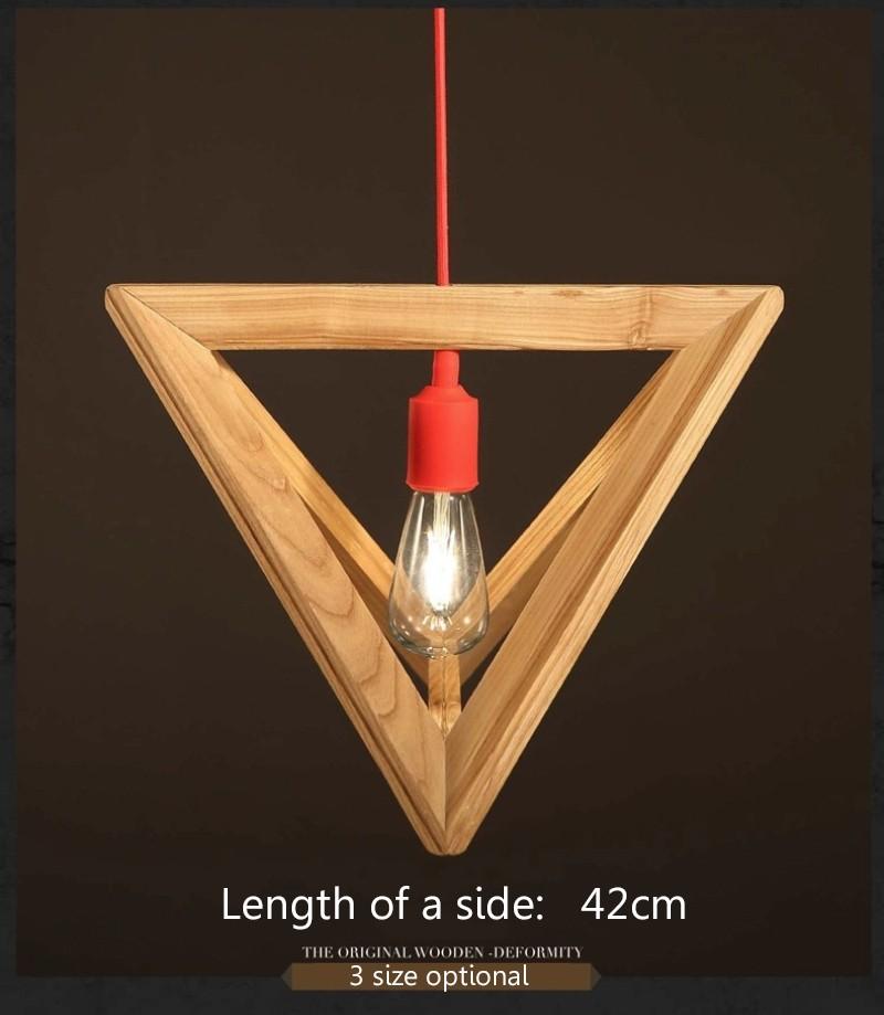 Simple OAK Wooden Rectangle Pendant Lights Hanging Wood Creative Pendant Lamps Dinning Room Restaurant Retro Fixtures Luminaire