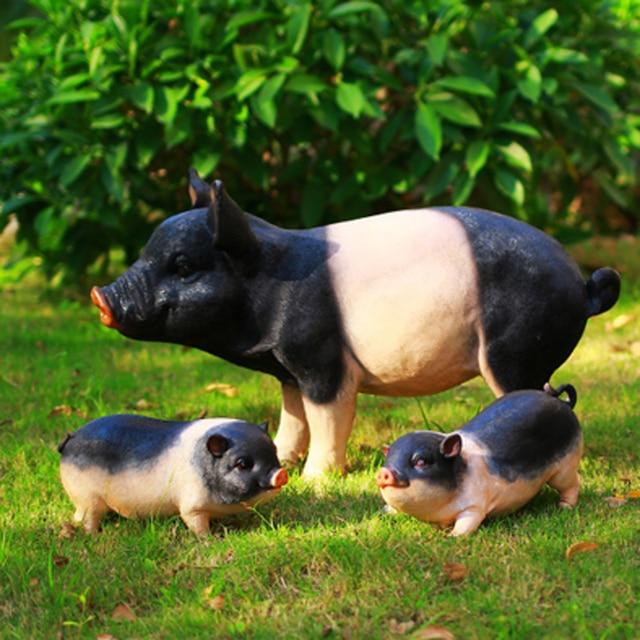 leuke lucky grote vet varken kunstmatige hars ambachten dier