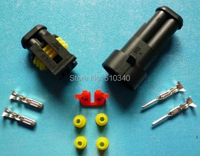Free Shipping 100sets=1300pcs 2Pin/way HID Waterproof Electrical ...