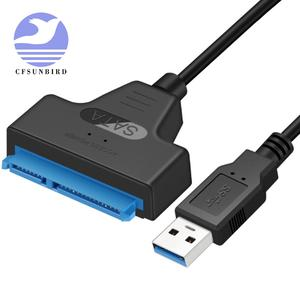Usb-Adapter Cable SSD Hard-Drive SATA External To Usb-3.0 6-Gbps-Support 22-Pin HDD NEW