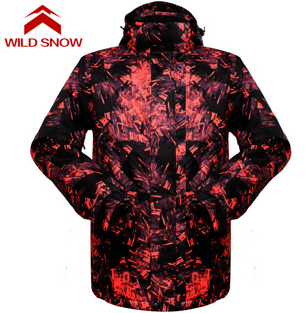 Wild Snow Ski Jacket Men Warm Winter Skiing Snow Waterpoof Jackets Snowboarding Hiking Jackets Male Winter Outdoor Ski Jackets цена